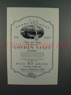 1926 Rock Island System Golden State Limited Train Ad
