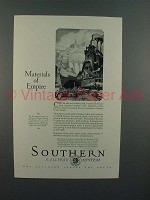 1926 Southern Railway System Ad - Materials of Empire