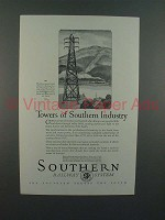 1926 Southern Railway System Ad - Towers of Industry