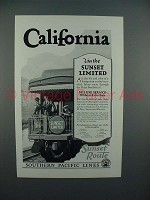 1927 Southern Pacific Lines Sunset Limited Train Ad - California