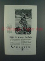 1927 Southern Railway Ad - Eggs in Many Baskets