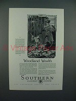 1927 Southern Railway Ad - Woodland Wealth