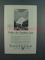 1927 Southern Railway Ad - Under the Southern Sun