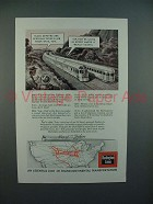 1943 Burlington Route Railroad Ad - Zephyr Trains