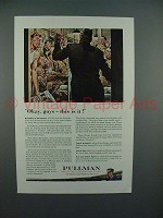1943 WWII Pullman Train Car Ad - w/ Soldiers