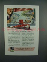 1946 GM Diesel Locomotive Ad - Coffee Remained Calm
