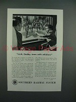 1946 Southern Railway Ad - Trees with Whiskers