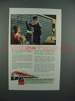 1947 GM Diesel Locomotive Ad - On Time