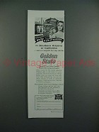 1955 Rock Island System Golden State Train Ad