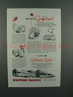 1953 Western Pacific California Zephyr Train Ad - You'll be Surprised