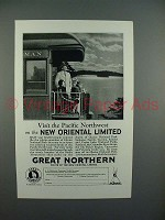 1928 Great Northern Railroad Ad - New Oriental Limited