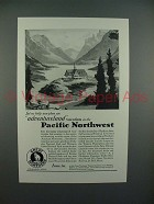 1929 Great Northern Railroad Ad - Adventureland