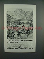 1931 Great Northern Railroad Ad w/ Cowboys - Old West