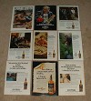 LARGE Lot of 10 Seagram's 100 Pipers Scotch Whisky Ads!