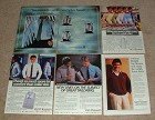 HUGE Lot of 17 Van Heusen Fashion Ads, 1951-1984 - NICE