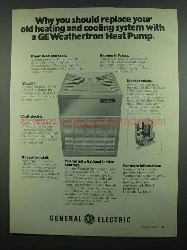 General Electric weathertron Manual