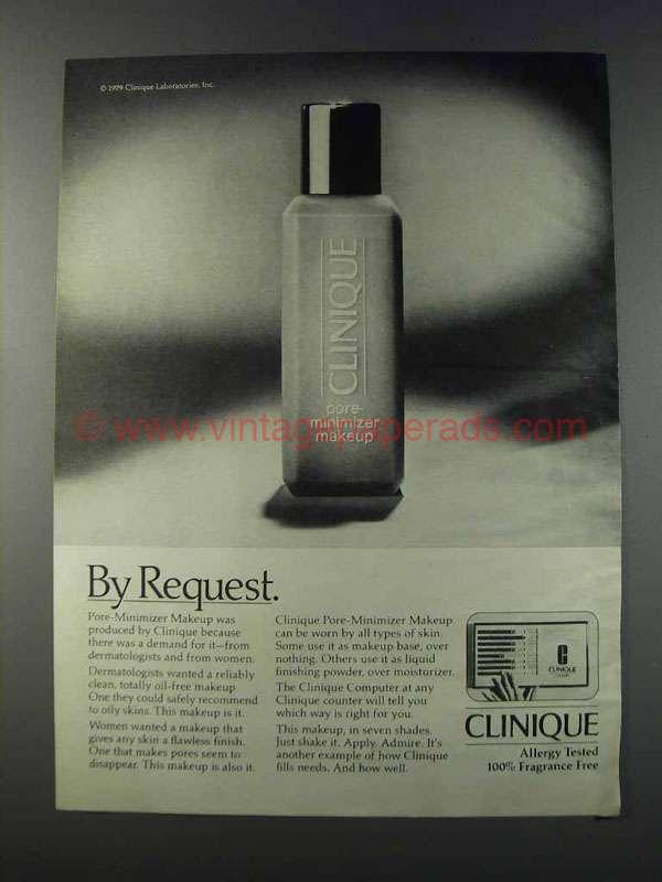 1981 Clinique Pore Minimizer Makeup Ad By Request