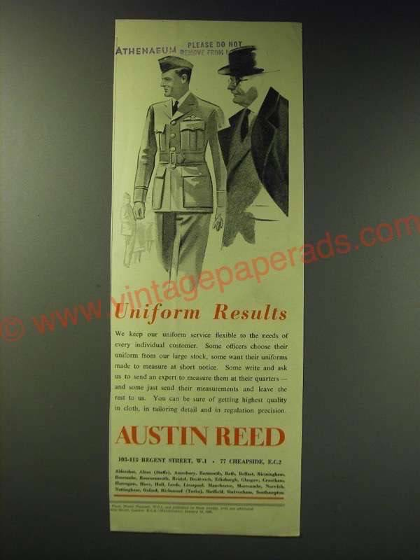 1942 Austin Reed Uniforms Ad Uniform Results