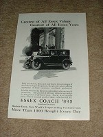 1925 Essex Coach Ad, Greatest of Values and Years!!!