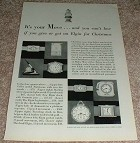 1929 Elgin Watch Ad, It's Your Move NICE!!!