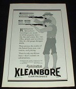 1929 Remington Kleanbore Cartridges Ad - Center Fire!