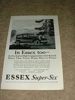 1927 Essex Super-Six Ad, NICE!!!