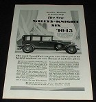 1929 Willys Knight Six Coach Car Ad, Advance Leadership