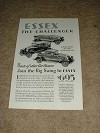 1929 Essex the Challenger Car Ad, NICE!!