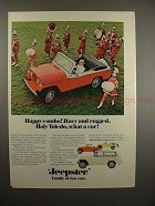 1967 Jeep Jeepster Ad - Happy Combo! Racy and Rugged!!