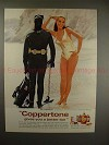 1968 Coppertone Sun Tan Lotion Ad, with Julie Newmar!!