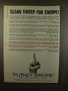 1969 Putney Swope Movie Ad - Clean Sweep for Swope!!