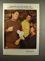 1969 Jantzen Sweaters Ad w/ Don Meredith & Jerry West!!