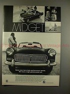 1969 MG Midget Car Ad - We Have a High Performance Car!