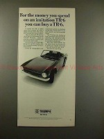 1969 Triumph TR-6 Car Ad - For Money Spend on Imitation