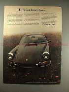1970 Porsche Car Ad - This is a Love Story, NICE!!