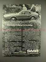 1970 Saab Sonett Car Ad, Beautiful Body Isnt Everything