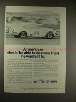1970 Triumph GT6+ Coupe Car Ad - Be Able to Do More!!