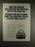 1971 Fiat Car Ad - Now America Has Accepted Small Car!