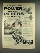 1957 Peters High Velocity Shotgun Shell Ad, Johnny Mize