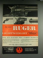 1957 Ruger Lightweight Single-Six Revolver Gun Ad!
