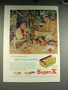 1957 Western Super-X Ammunition Ad - Take a Boy Hunting