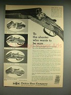 1958 Dakin Shotgun Ad: Luxury, Over & Under, Extra +
