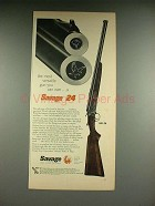 1958 Savage 24 Gun Ad - Most Versatile You Can Own