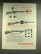 1958 Winchester Model 52, 70, 75 Target Rifle Ad!
