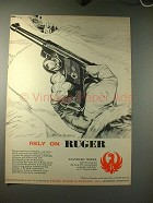 1958 Ruger Standard Model Pistol Ad - Rely on Ruger