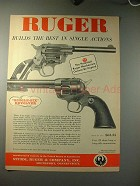 1958 Ruger Single-Six Revolver Gun Ad - Best Action