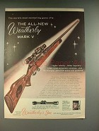 1959 Weatherby Mark V Rifle Gun Ad!