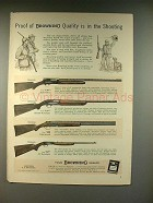 1959 Browning Automatic-5, Superposed Shotgun Ad