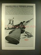 1959 Colt Coltsman Rifle Ad - Recipie for Venison