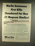 1959 Marlin 57M Rifle Ad - Chambered for Rimfire!